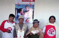 Educational program in Bolivia encourages blood donation.