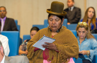 Members of the Ancestral Peoples come from Bolivia