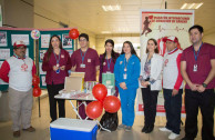 Doctors and activists during the blood drive marathon
