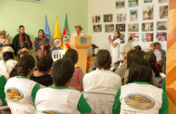 Representative of one of the indigenous peoples attending, making known their objectives and goals for their ethnicity