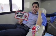 Young university students from Nuevo León donate the Sap of Life.