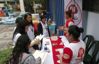 Sensibilizacion and donation at the ISNA in El Salvador