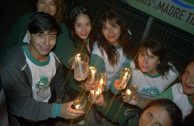 Chileans kight candles in celebration of Earth Hour.