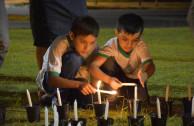 350 velas encendidas