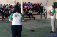 Activists teaching students the 5Rs program in Costa Rica