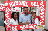 Activists celebrated World Donor Day in Barranquilla