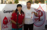 In the main square of the Municipal Presidency of Coahuila delivered certificates to regular donors