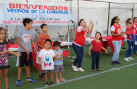 niños participando