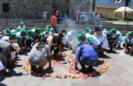 ceremonia de permiso madre tierra