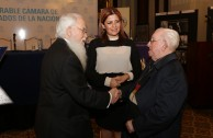 The House of Representatives of Argentina receives the plaques of the Holocaust
