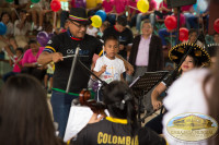 The children and the Symphonic Orchestra