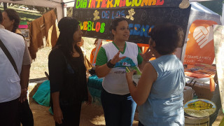voluntarios socializando