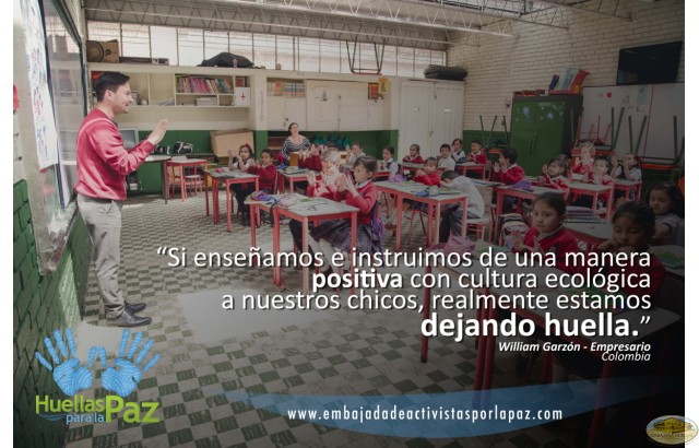 William Garzón, Colombia - La instrucción positiva es una huella de paz