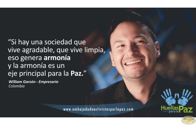 William Garzón, Colombia - Uno de los ejes principales para la paz: la armonía