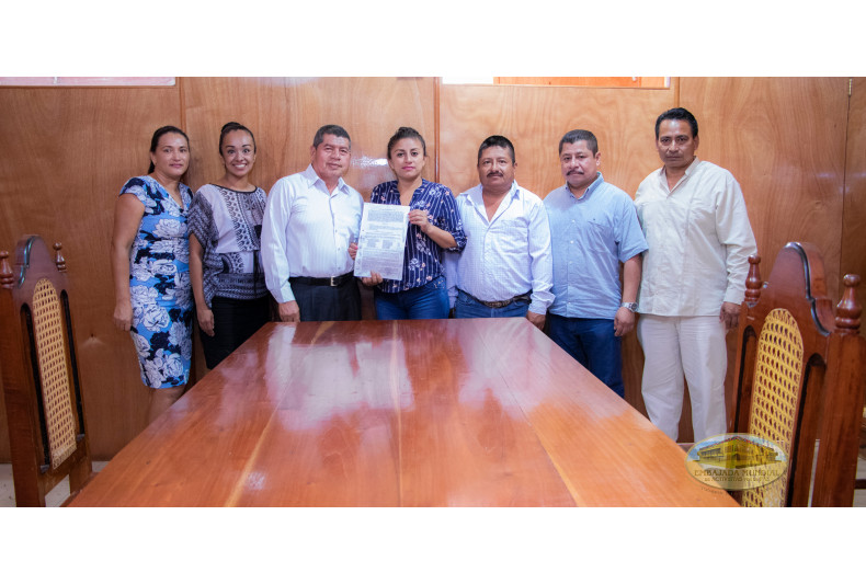 Proclama entregada en Ostuacan, Chiapas