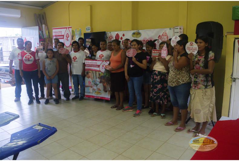 Emotivo compromiso de los participantes en pro de la Donación de sangre