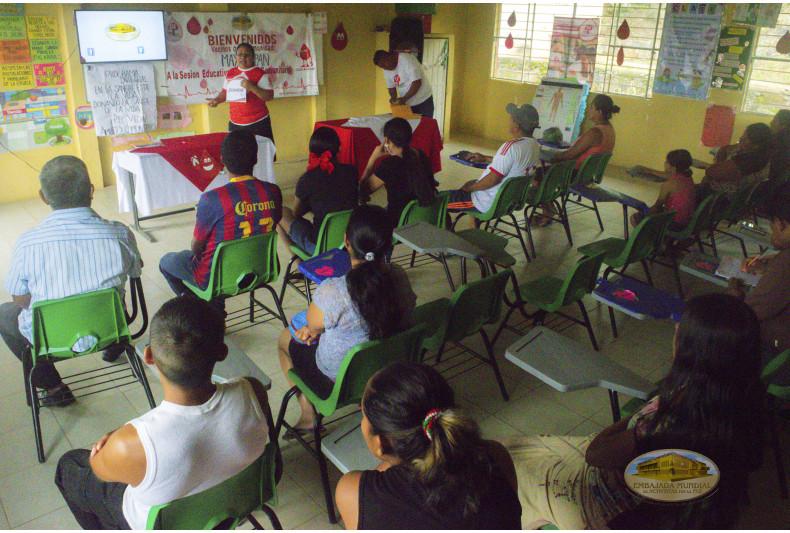 Sesión educativa del PEC VIDA