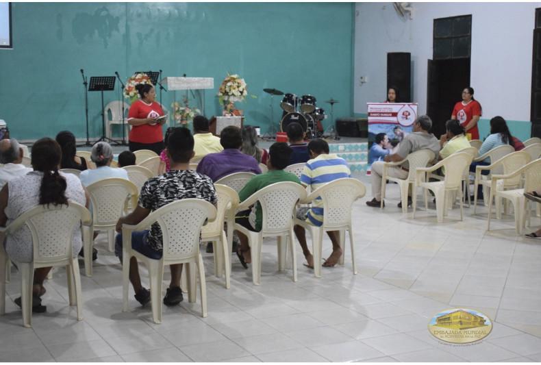 """Charlas de sensibilización del PEC-VIDA en iglesia """"Bethel"""""""