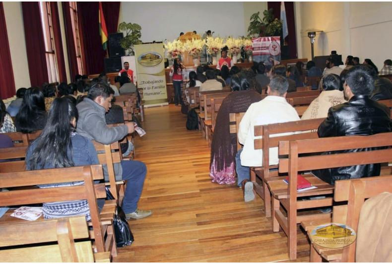 """Iglesia Bautista """"Arca de Dios"""" recibe charlas de sensibilización del PEC-VIDA"""