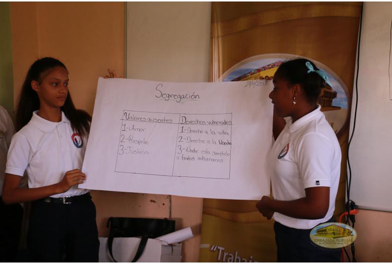 Estudiantes exponen sobre Derechos Humanos