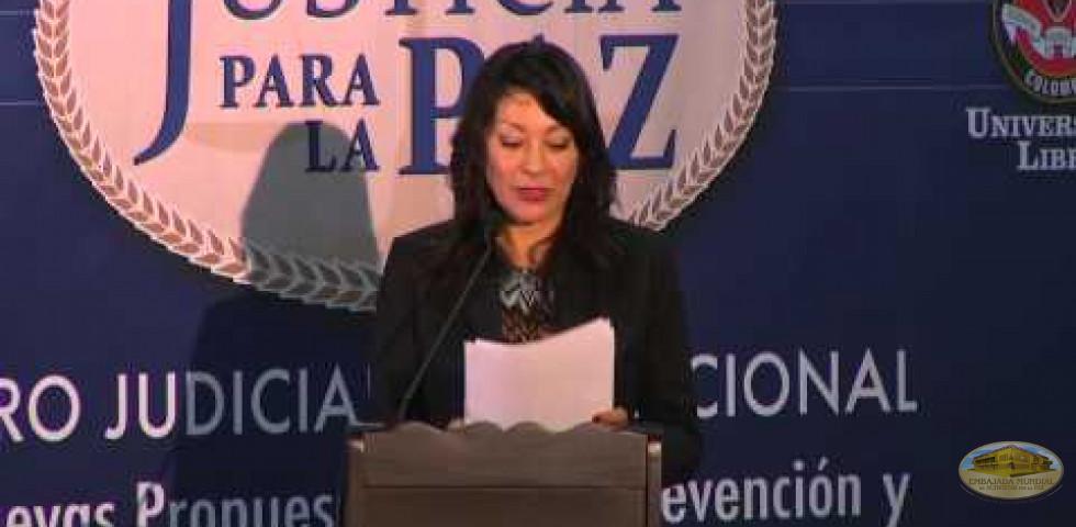 Primer Foro Judicial Internacional - Dra. Jenny Quiros Camacho