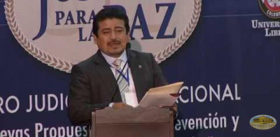 Primer Foro Judicial Internacional - Dr. Martín Ubaldo Mariscal