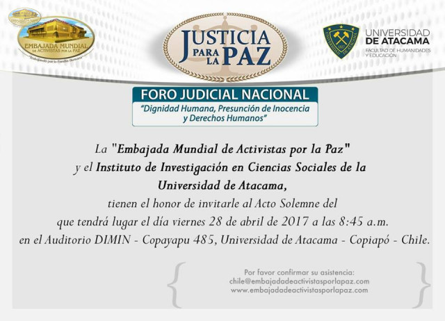 Flayer Foro Judicial Universidad Atacama en Chile