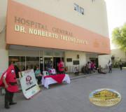 Donación en hospital.