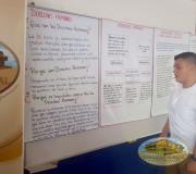 Publicidad colocada en diferentes aulas