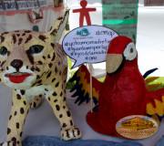 animales material reciclado