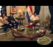 Presidente de Paraguay Dr.  Luis Federico Franco recibe proyecto Huellas para no olvidar
