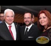 Directivos de la Embajada asisten al reconocimiento del Presidente de Panamá.
