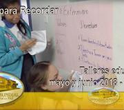 Educar para Recordar - Talleres educativos mayo y junio 2018 - Panamá