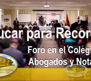 Educar para Recordar - Guatemala - Foro en el Colegio de Abogados y Notarios | EMAP