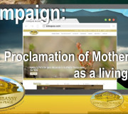 Campaign: Proclamation of Mother Earth as a living being   GEAP